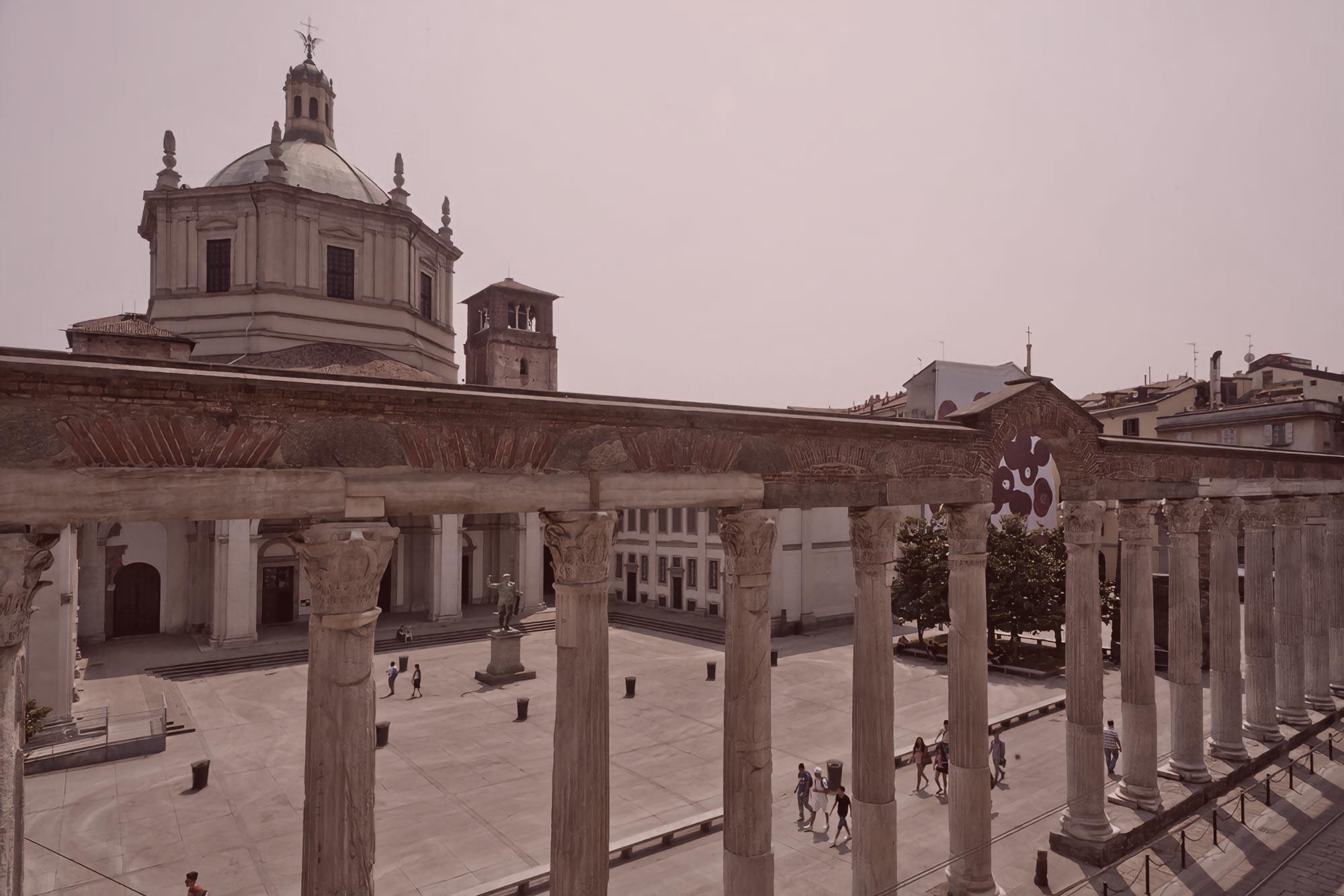 Legatoria Borghi Milano - Immagine delle Colonne di San Lorenzo